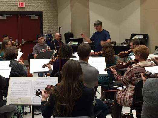 Scott Laird conducts annual new music reading session