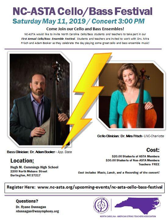 Cello Bass Festival Flyer